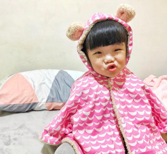 【寶寶】Q比芝麻暖心手作 / 熊耳斗篷 溫暖孩子全身 全手工製作 秋冬外套 嬰幼兒服飾